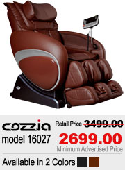 Cozzia 16027 Shiatsu Massage Chair