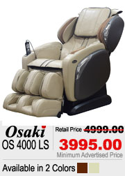 Osaki OS 4000LS Shiatsu Massage Chair
