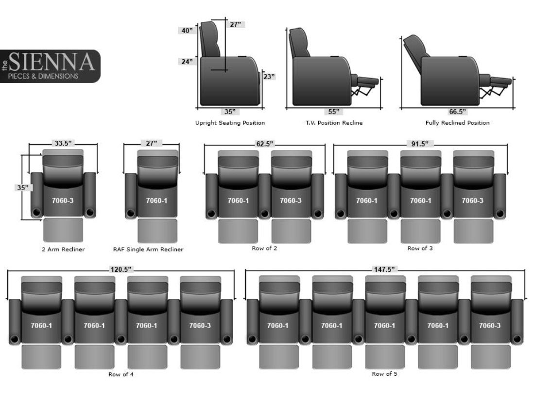 Seatcraft sienna home theater seating homemade ftempo Home theater furniture amazon